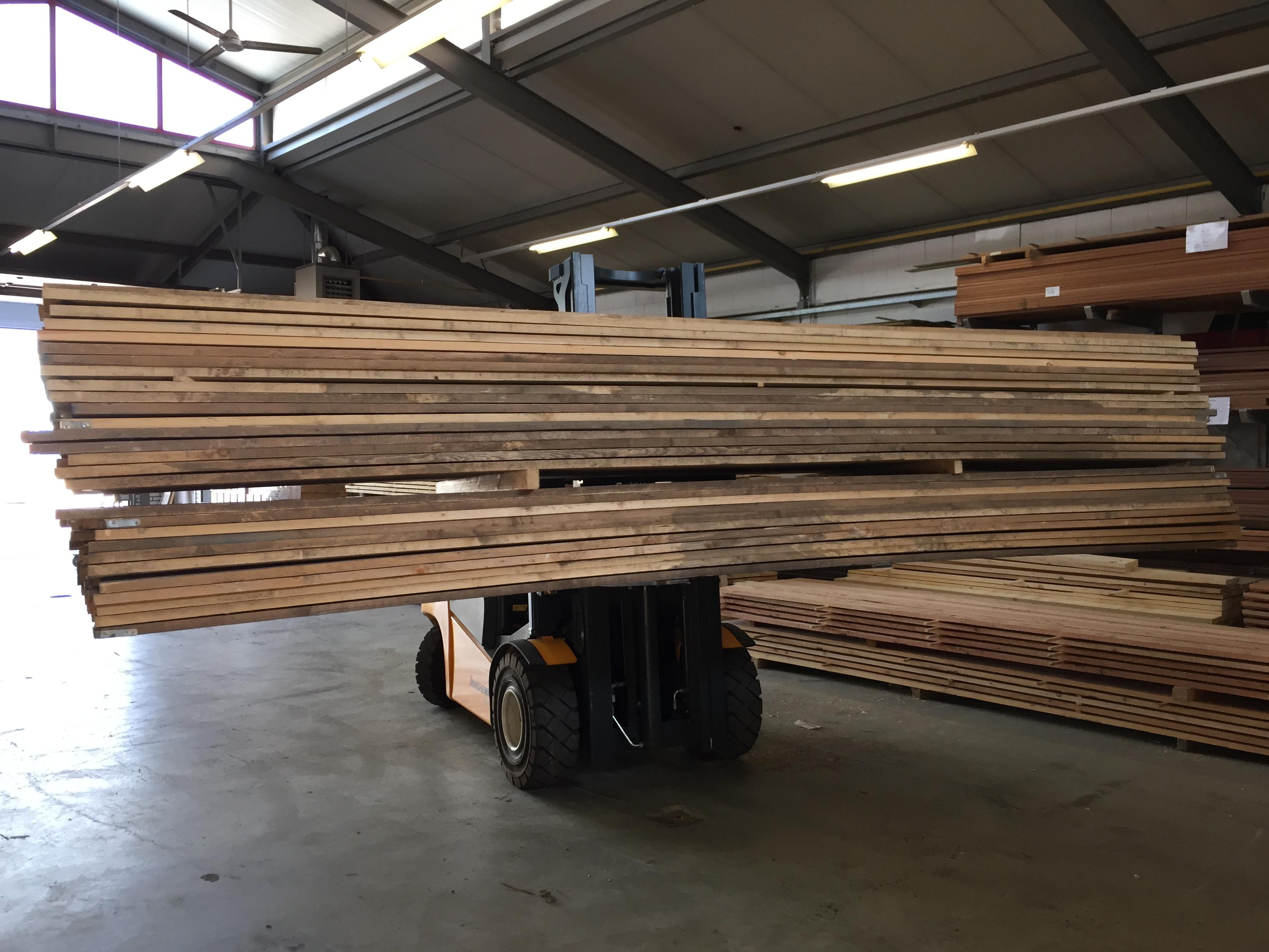 Steigerhout Gebruikt