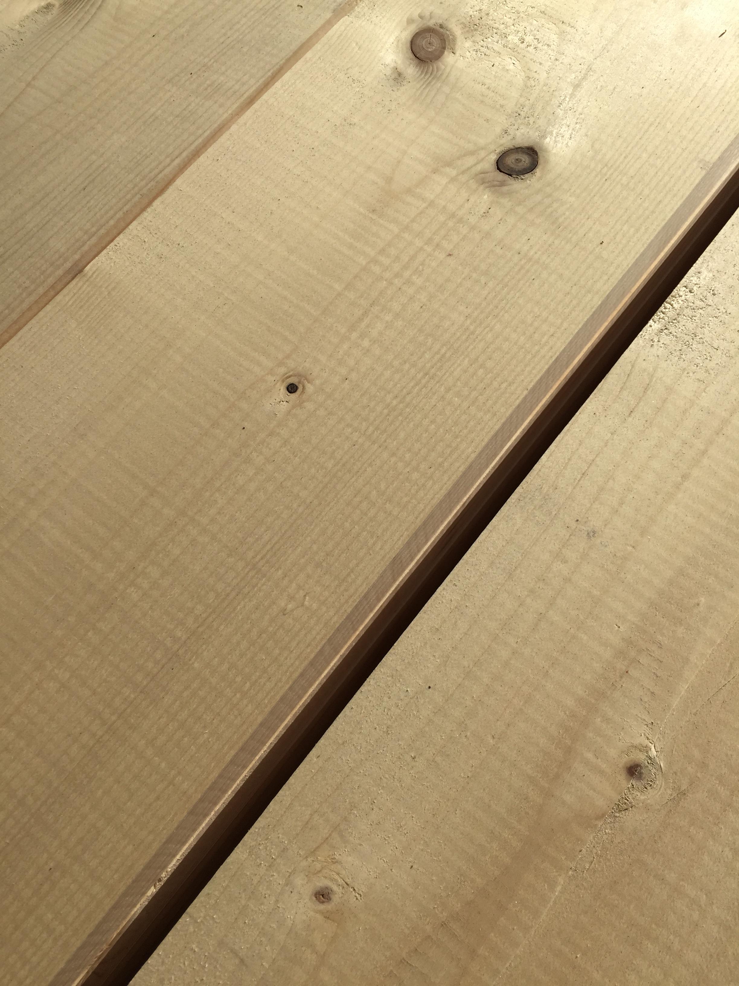 steigerhout geschaafd